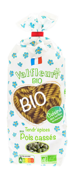 Valfleuri Organic Green Peas 250g/8.8oz