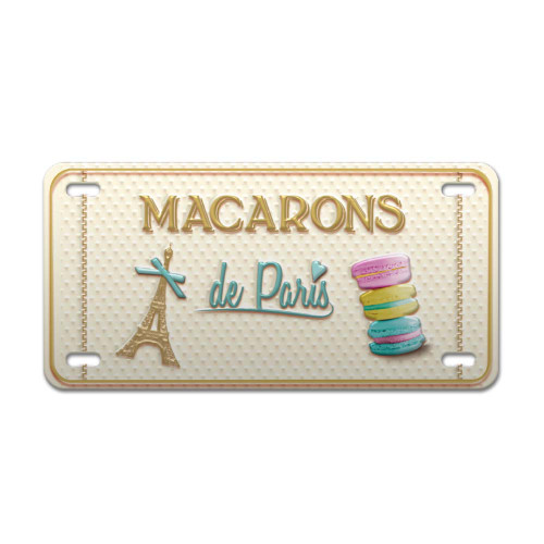 Macarons de Paris Vintage Decorative Metal Plate