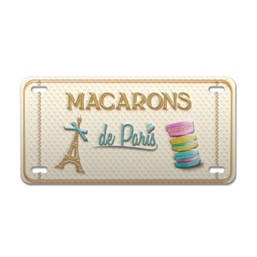 Macarons de Paris Vintage Decorative Metal Plate