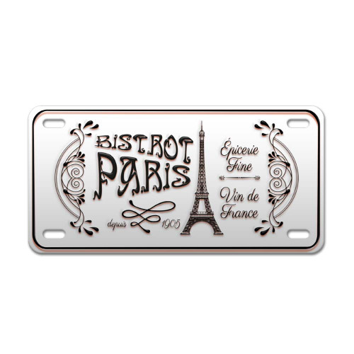 Paris Bistro Vintage Decorative Metal Plate