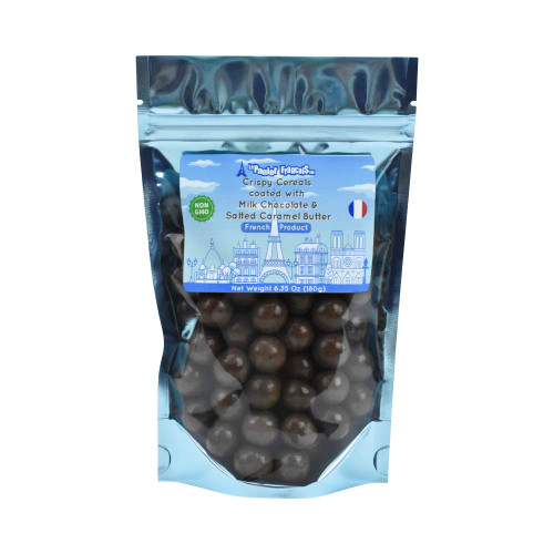 Le Panier Francais Crispy Cereals coated with Milk Chocolate and Salted Caramel Butter 180g/6.36oz