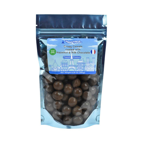 Le Panier Francais Crispy Cereals coated with Hazelnut Cocoa Spread and milk chocolate 180g/6.36oz