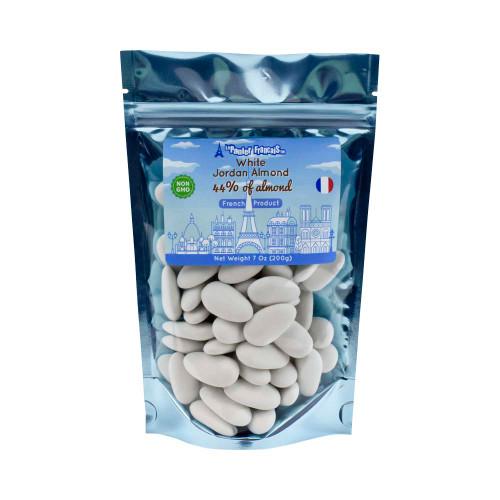 Le Panier Francais French Jordan Almond White 44% almond  200g/7.05oz