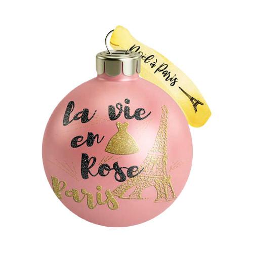 """Holiday Ornament - Pink Pastel """"La vie en rose Paris"""""""