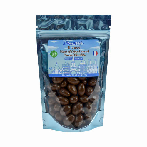 Le Panier Francais French Heart of Almond covered Caramel Chocolate 180g/6.35oz