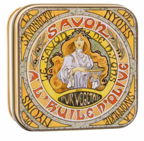 La Savonnerie de Nyons Square Tin Mucha 100g/ 3.52oz