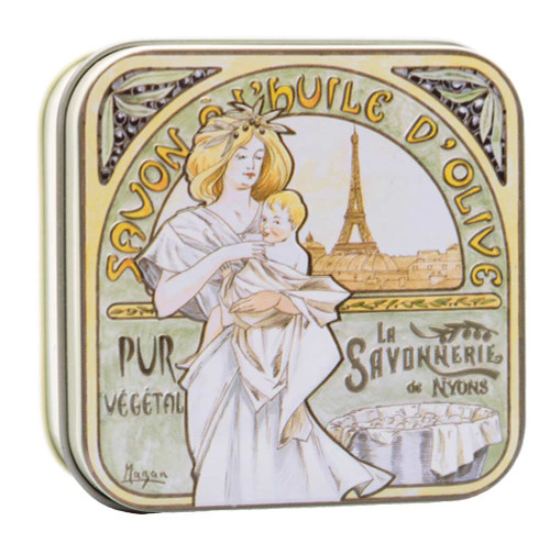 La Savonnerie de Nyons Square Tin Mucha Baby and Mom 100g/ 3.52oz