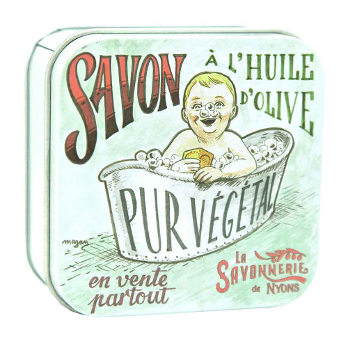 La Savonnerie de Nyons Square Tin the Baby Bath 100g/ 3.52oz