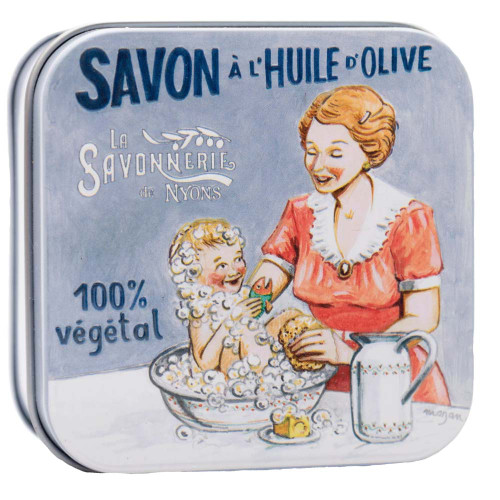 La Savonnerie de Nyons Square Tin Baby and Mom 100g/ 3.52oz