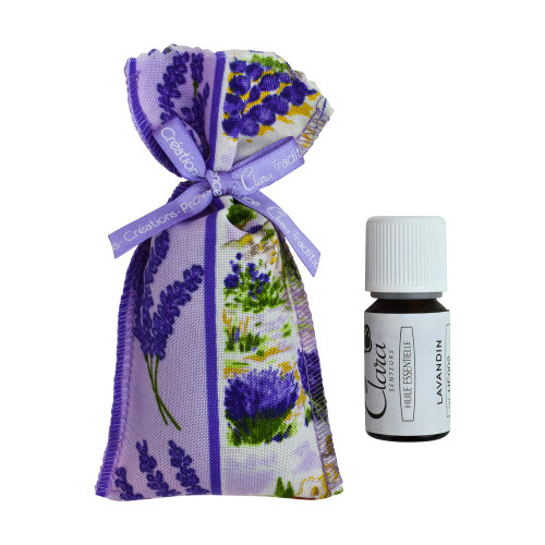 Clara en Provence Lavandin Essentiel Oil with a lavandin Bag