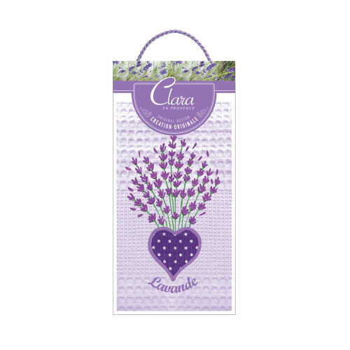 Clara en Provence Embroidered Lavender Towel