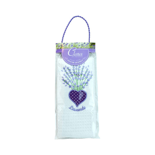 Clara en Provence Embroidered White Towel