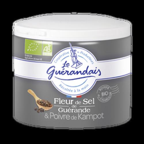 Le Guerandais Flower of salt with organic Kampot Black Pepper 125gr/4.41oz