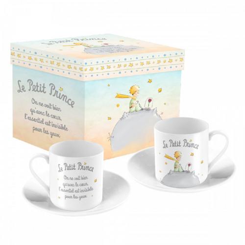 Le Petit Prince Set of 2 Espresso Coffee Cups Ceramic Gift Box