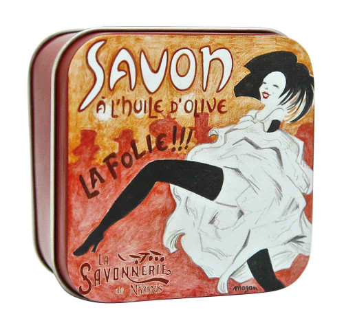 La Savonnerie de Nyons Square Tin French Cancan 100g/3.52oz