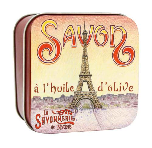 La Savonnerie de Nyons Square Tin Eiffel Tower 100g/3.52oz
