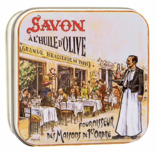 La Savonnerie de Nyons Square Tin La Brasserie 100g/3.52oz