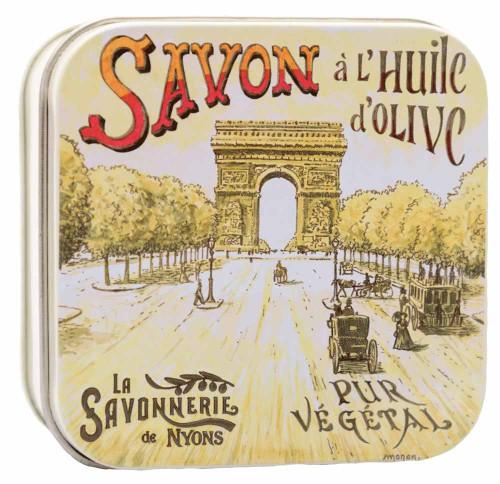 La Savonnerie de Nyons Square Tin Arc de Triomphe 100g/3.52oz