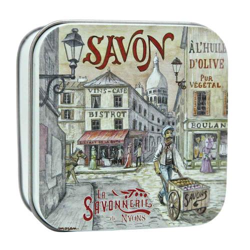 La Savonnerie de Nyons Square Tin Montmartre 100g/3.52oz