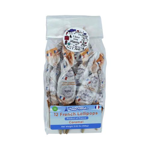 Le Panier Francais Bag of 12 French Candy Lollipop Caramel