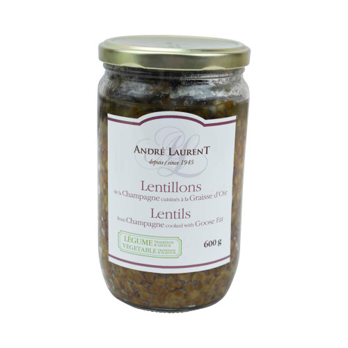 André Laurent Countryside Lentils Cooked in Goose Fat 600g/21oz