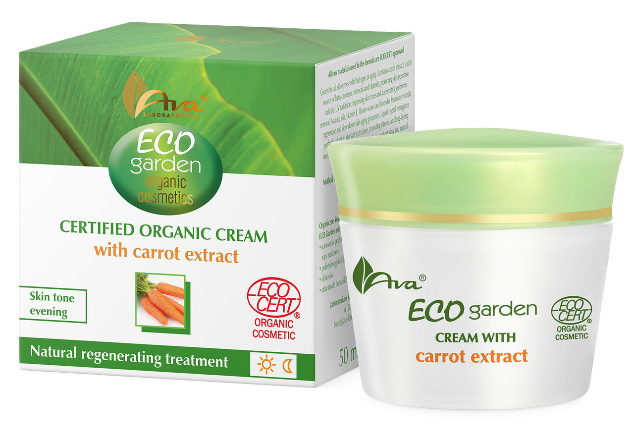 ECO Certifed Organic Carrot Extract Skin Correcting Cream