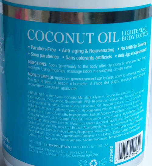 Skin Lightening Body Lotion With Coconut Oil
