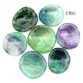 Set of 4 Fluorite Worry Stone w/ Thumb Indent 35-45 mm