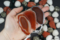 Silver Plated Red Agate Slice Ornament