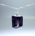 Set of 4 Tumbled Garnet Pendant with Silver Bail