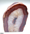 Red/Amber Agate Geode Tea Light Candle Holder (CAN5-RE)