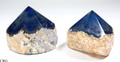 Top Polished Agate Point with Cut Base- Blue (TPP1-BE)