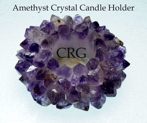 Amethyst Crown Point TeaLight Candle Holder