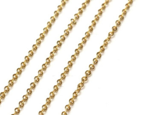 """18"""" GOLD LINK 2.5mm Necklace Chain with Lobster claw clasp"""