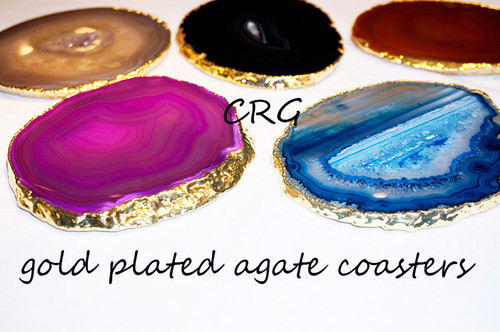 Gold Plated Agate Coaster