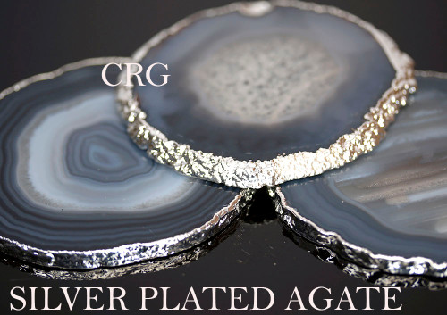 Silver Plated natutral Agate Slice
