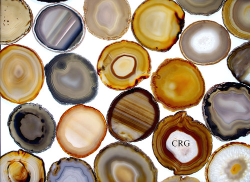 """Agate Slices 5.5""""- 6"""" Size #6  *Picture is example only."""