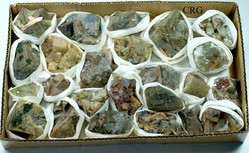 Fluorite cubic clusters from Morocco. Wholesale - Full Flat (FLUM-FF)