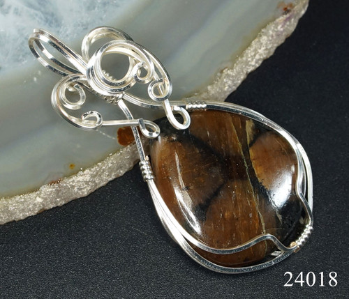 One of a Kind Andalusite Wire Wrapped Pendant