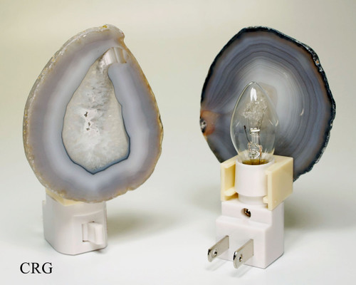 Gray Agate Nightlights with Bulb and Switch