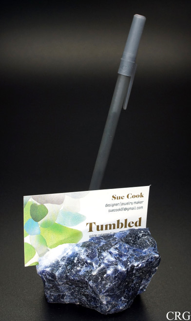 Rough Sodalite Card & Pen Holder - Qty. 1 (CARD-SO)