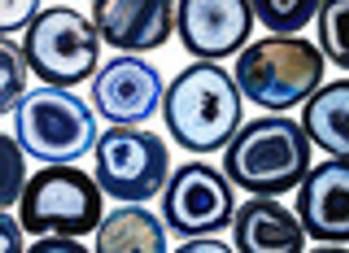 """Blue Agate Slice 7.5""""- 9.5"""" #8 and #9 Mixed Sizes  **Picture is example only"""