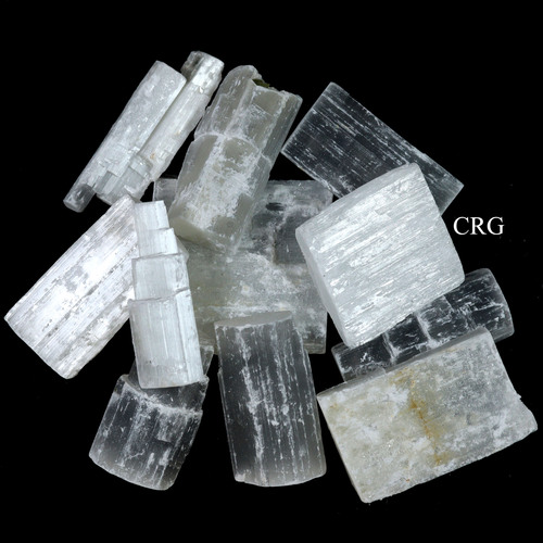 1 Kilo lot Natural Selenite Sticklettes and Things Mixed Sizes (SS13MX-1K)
