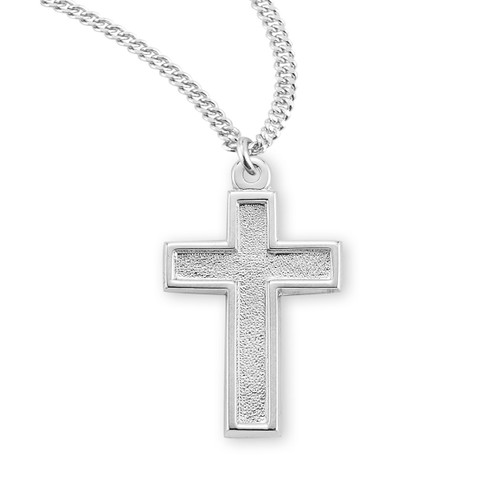 Sterling Silver Hammered Cross