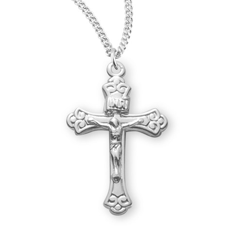 Tapered Sterling Silver Crucifix