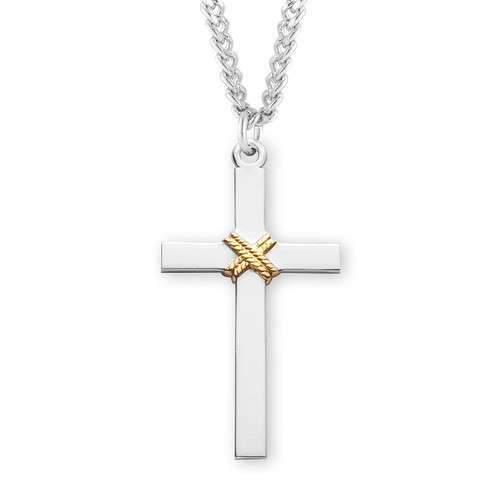 """Two-Tone Cross With A Rope 