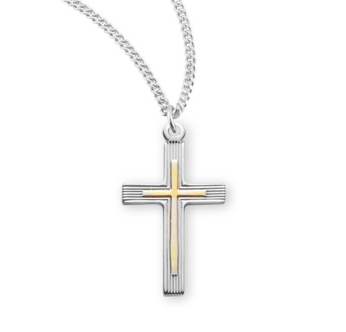 Two-Tone Sterling Silver Cross | 2