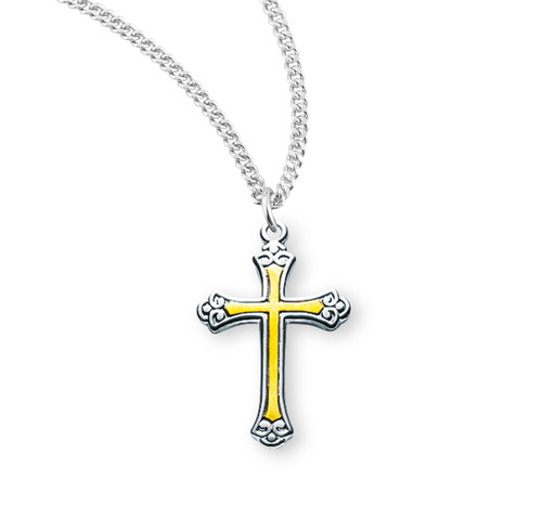 Two-Tone Sterling Silver Cross | 1
