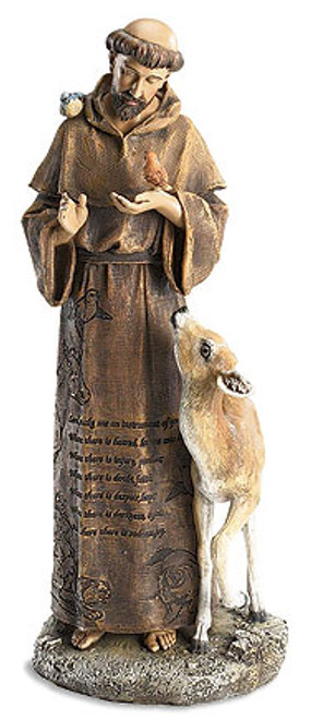 "12"" St. Francis Figure of Faith 