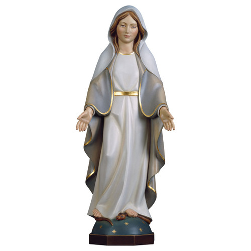 Modern Our Lady of Grace Statue | Hand Carved In Italy | Multiple Sizes